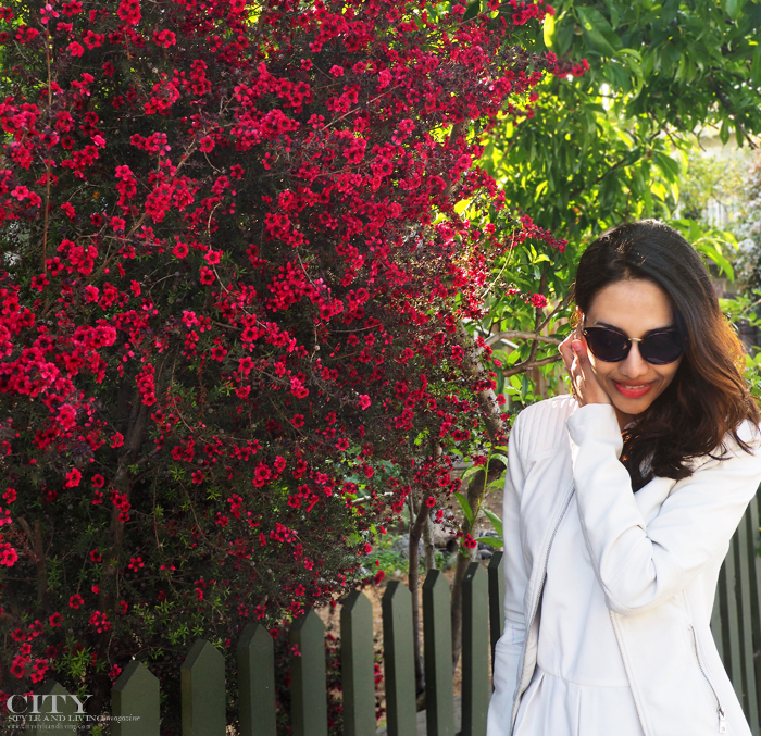 City Style and Living Magazine Healdsburg downtown peplum style blogger flowers
