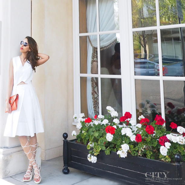 city Style and Living Magazine Tibi Riko eyelet white dress fashion blogger