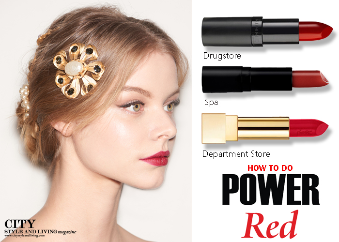How to do Power Red lipstick daniel thompson city style and living magazine fall 2015