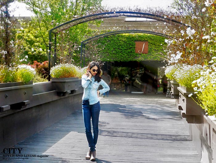 J Vineyards Canadian tuxedo style blogger healdsburg california denim on denim