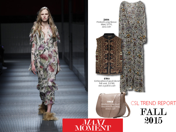 City Style and Living Magazine Fall 2015 Trend Report maxi moment