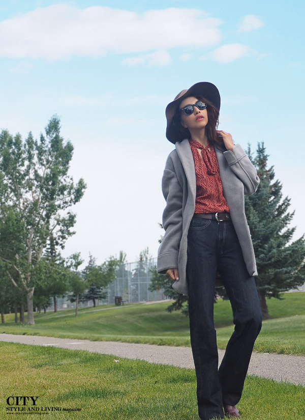 Fall 2015 Bohemian 1970's flare jeans city style and living magazine calgary style blogger