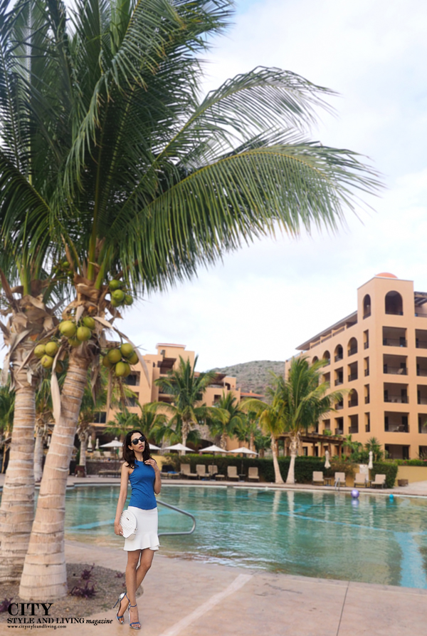 City style and living magazine style fashion blogger Calgary villas palmar at the islands of loreto mexico pool bcbg max azria