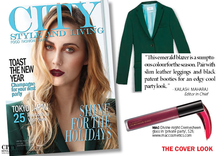 Behind the winter 2013/14 cover, beauty, holiday makeup tricks city style and living magazine