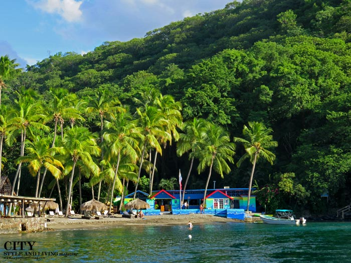 Anse Chastanet Beach Palms Boats City Style And Livingcity Living