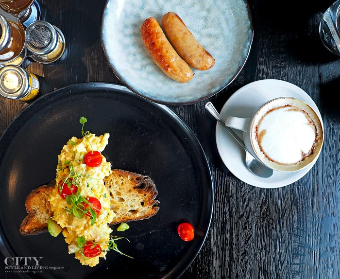 Scrambled Eggs Cherry Tomatoes Smoked Trout on Toast