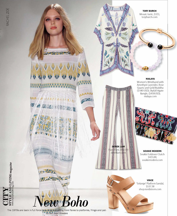 City Style and Living Fashion trends Boho Spring 2016