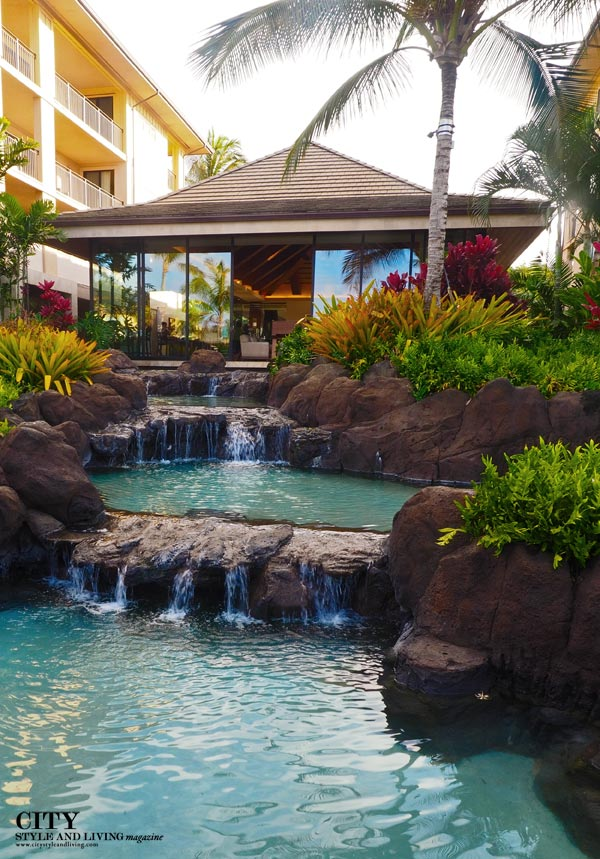 city style and living magazine water feature Koloa Landing Reception
