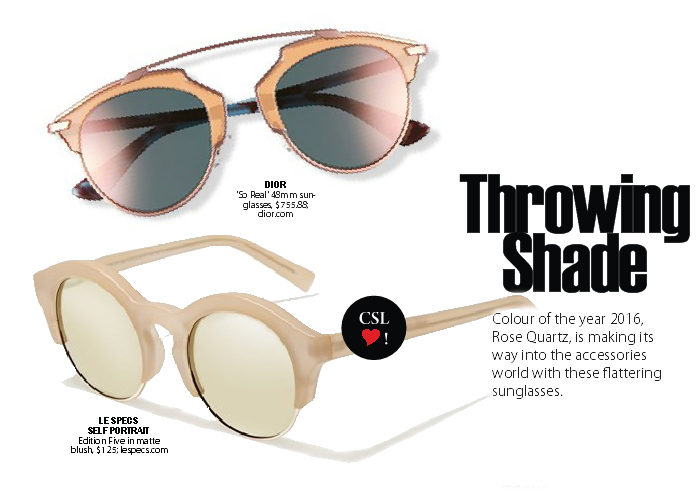 City Style and Living Magazine sunglasses summer 2