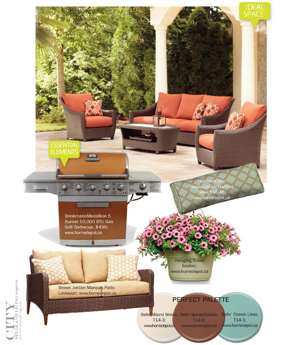 City style and living magazine how to create a patio