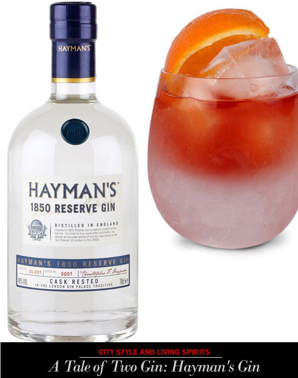 city style and living spirits haymans gin