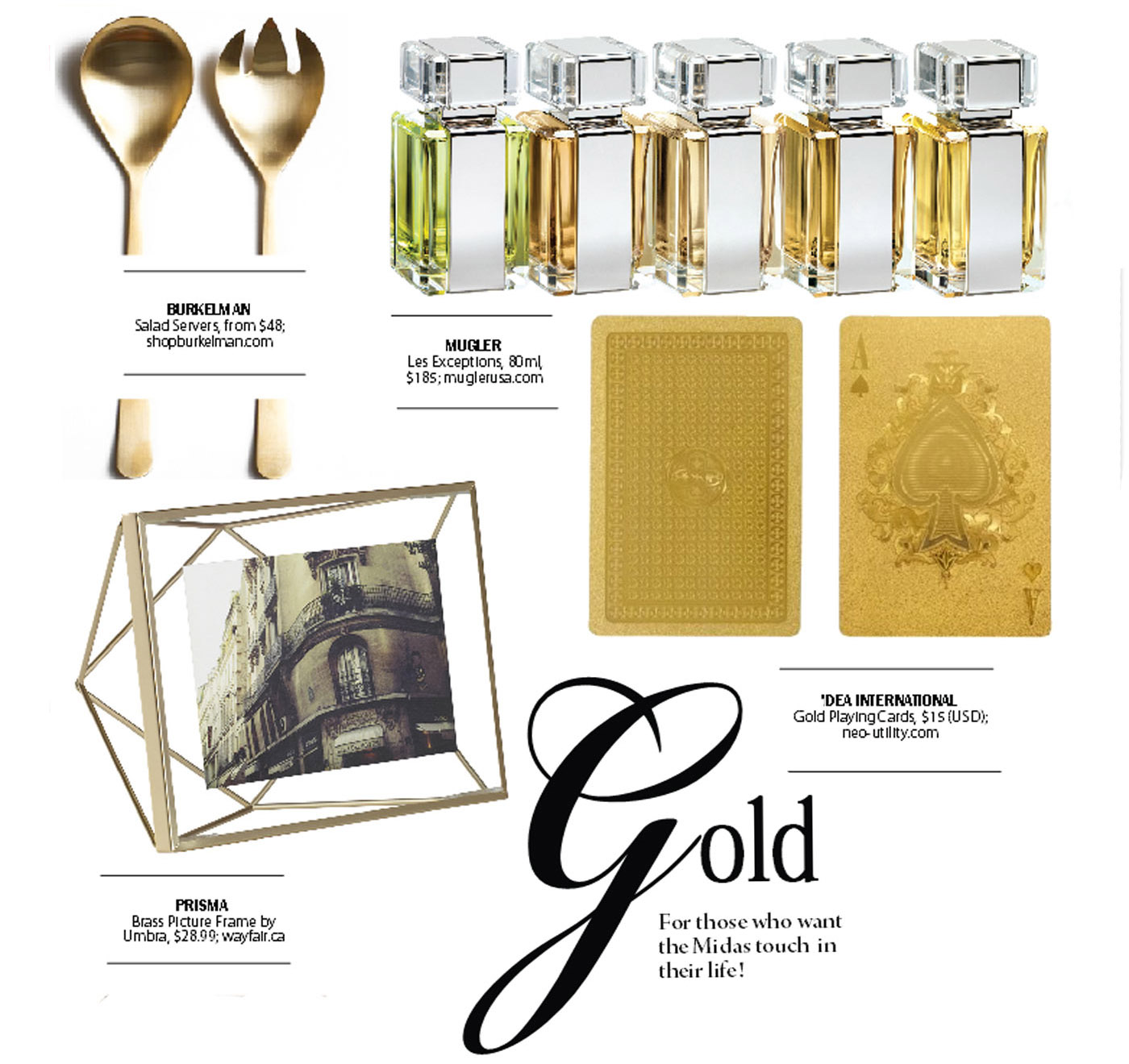 city style and living magazine gift guide gold