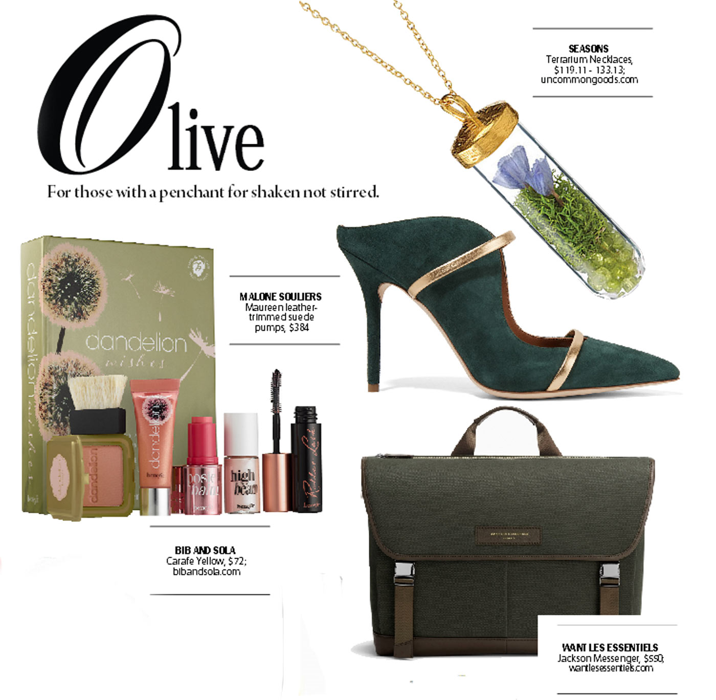 city style and living magazine gift guide olive