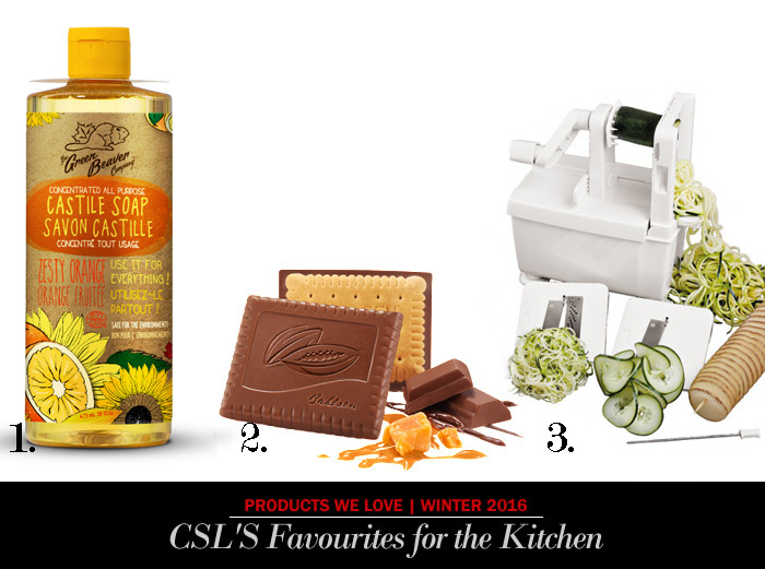 Great gourmet products for the season including green beaver, world cuisine spiralizer and bahlsen chocolate coated biscuits from City Style and Living Magazine