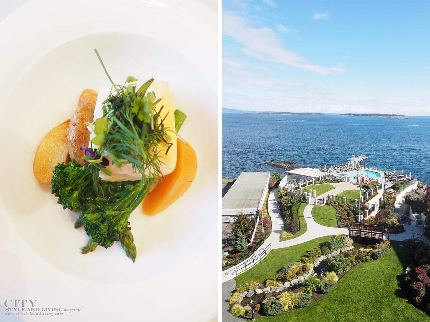 City Style and Living Magazine oak bay beach hotel victoria looks over the pacific ocean