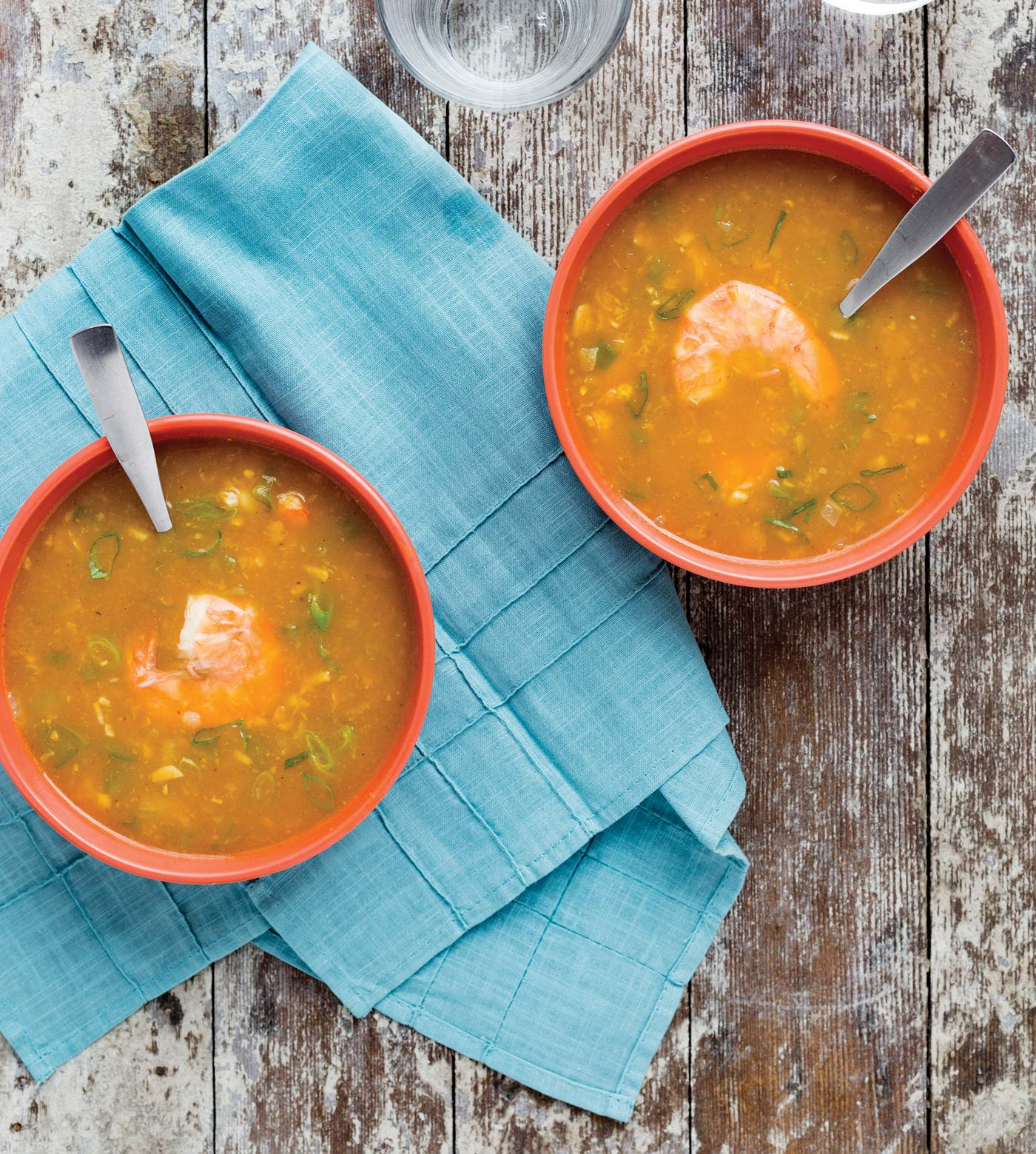 City Style and Living Magazine pumpkin, corn and shrimp bisque easy winter recipe from pumpkin it up by eliza cross