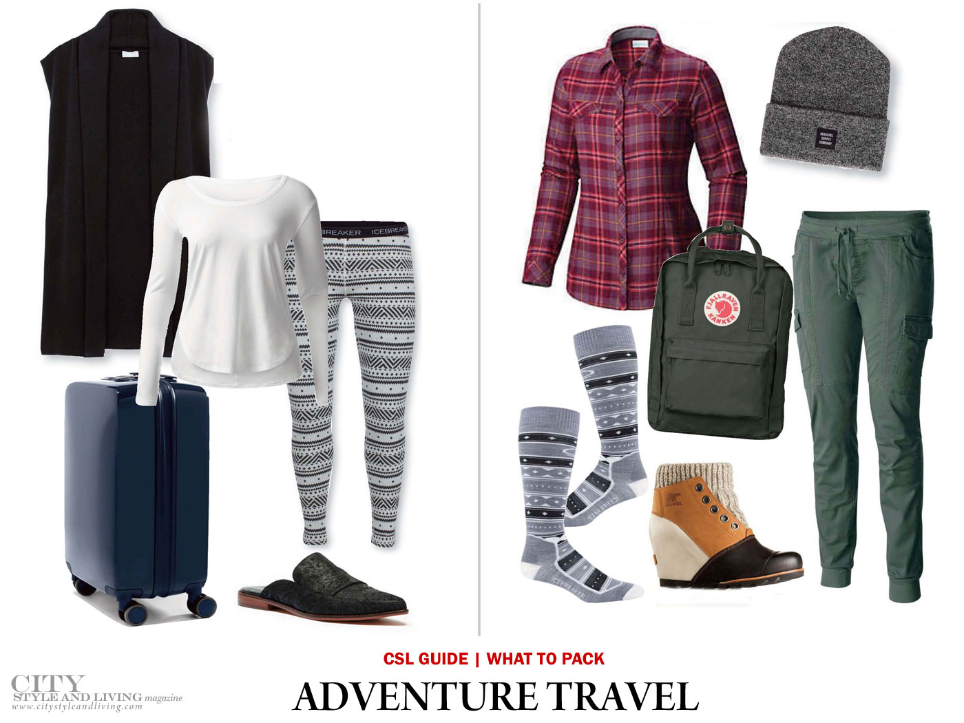 City Style and Living Magazine what to wear for adventure travel