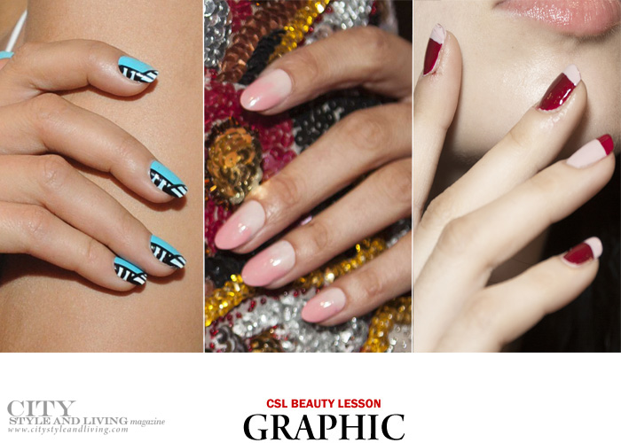 city style and living magazine nail trends spring 2017 graphic