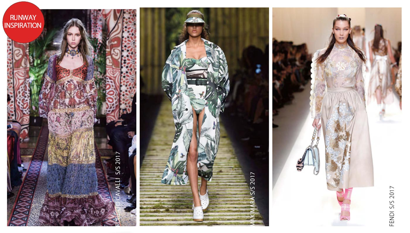 City Style and Living Magazine fashion floral two ways for spring runway spring 2017