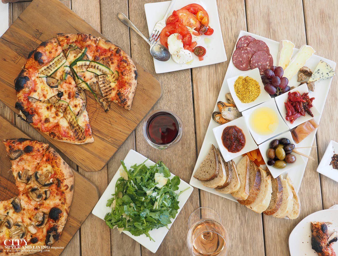 City Style and Living magazine new zealand coromandel mercury bay estate winery Italian lunch charcuterie and pizza