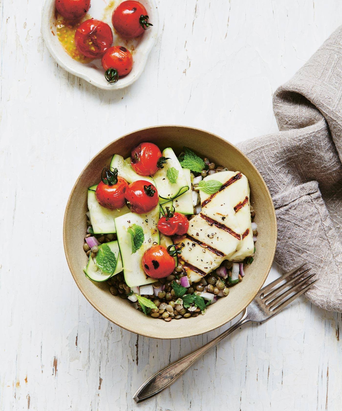 City Style and Living Magazine recipes halloumi bowl for summer
