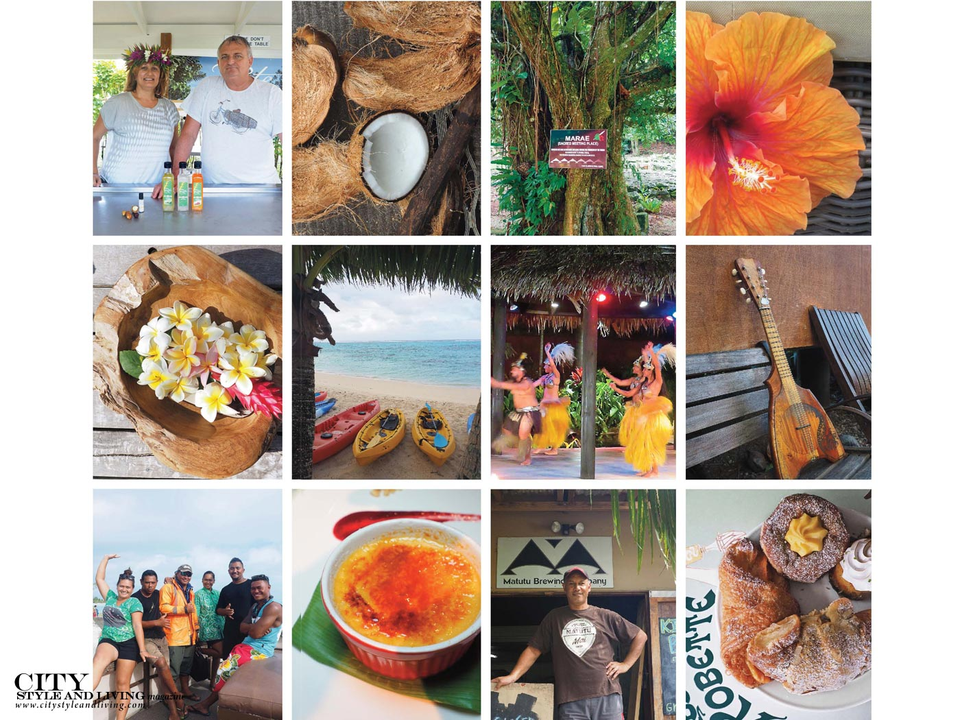 City Style and Living Magazine Rarotonga cook islands collage 1