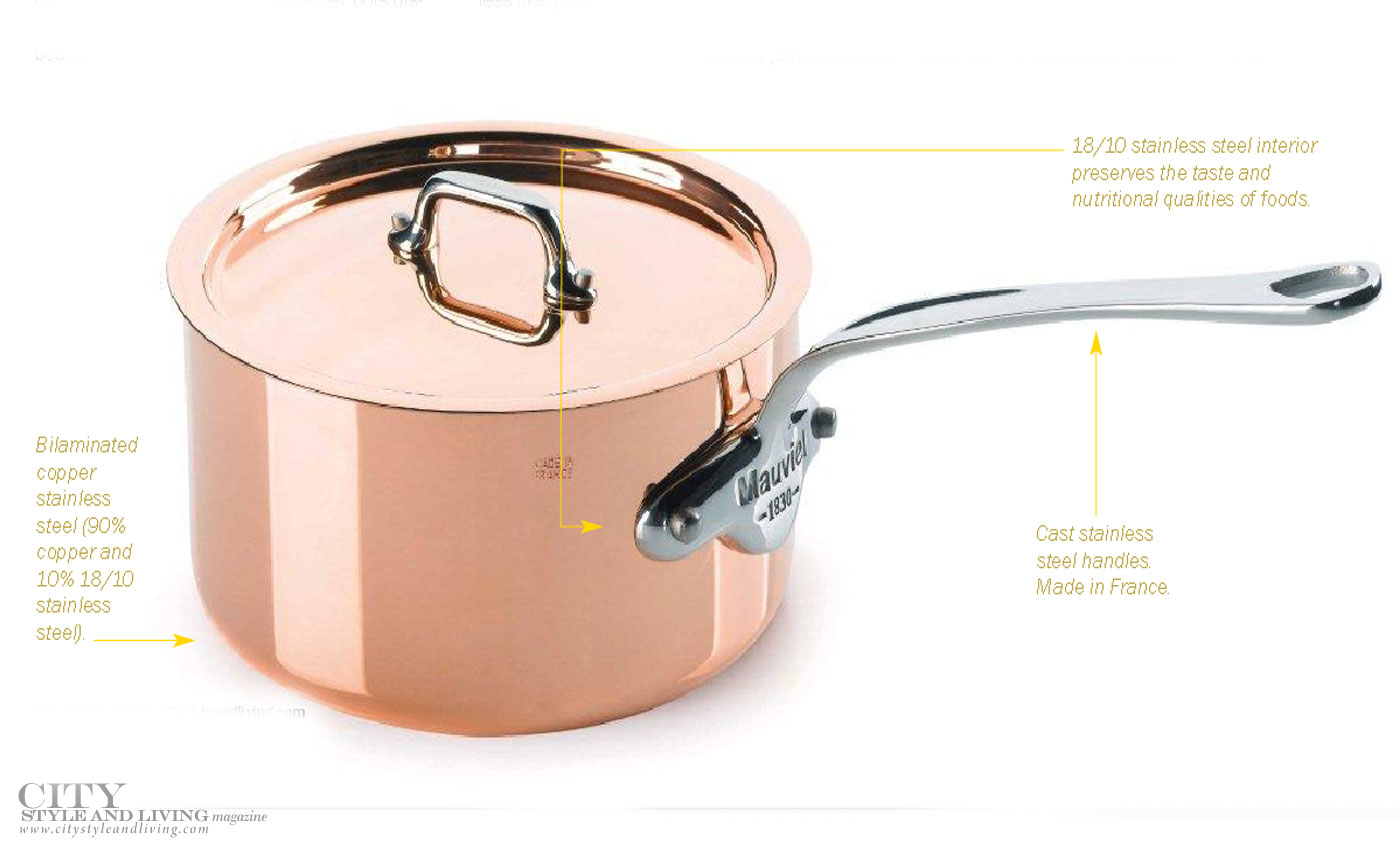 City Style and Living Magazine mauviel copper pots