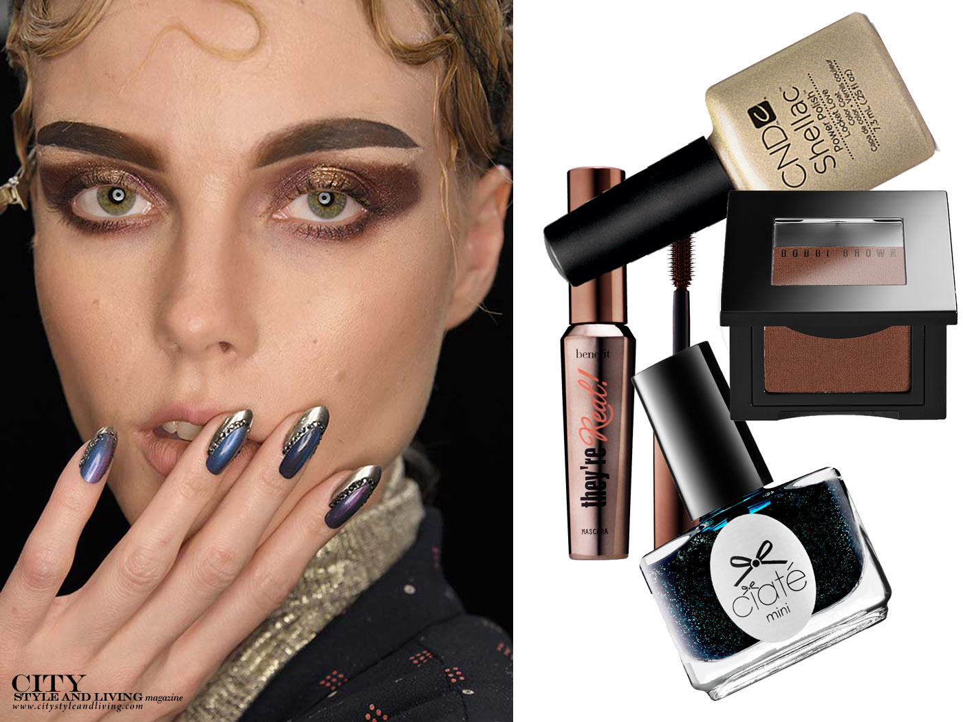 of City Style and Living Magazine Subtle Glitz Makeup for Fall 2017