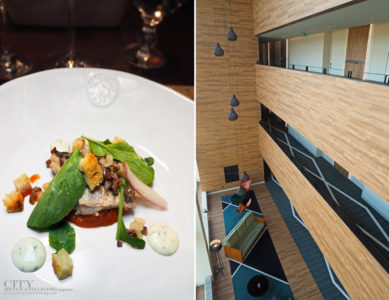 City Style and Living Magazine Travel The Azores Portugal azor hotel ponta delgada fresh mackerel for dinner at a terra and a view of the lobby from above