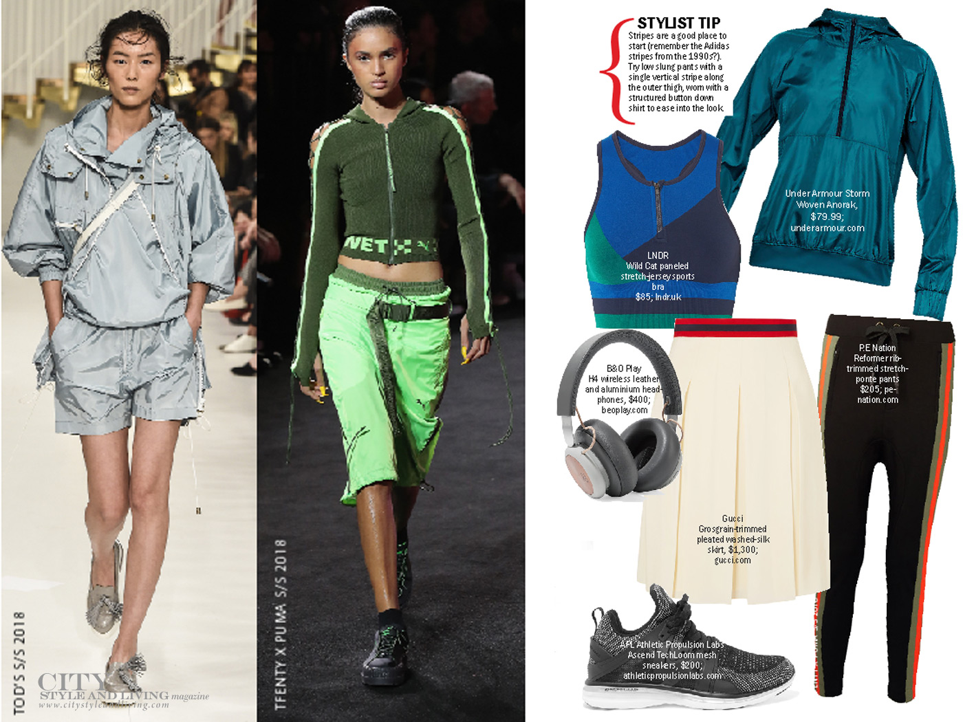 City Style and Living Magazine spring 2018 fashion trends Athleisure