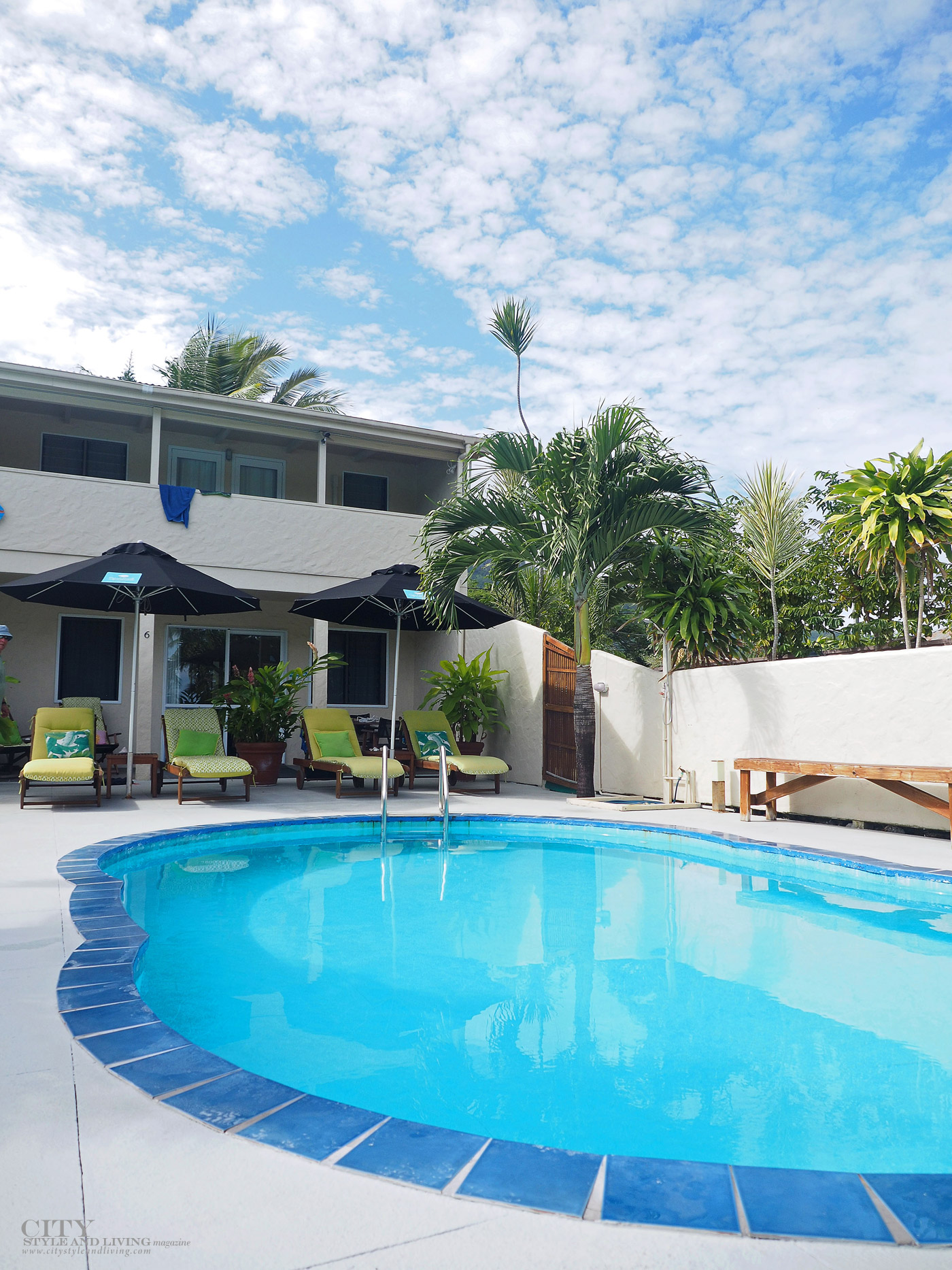 City Style and Living Magazine Travel Cook Islands Coral Sands Apartments Pool