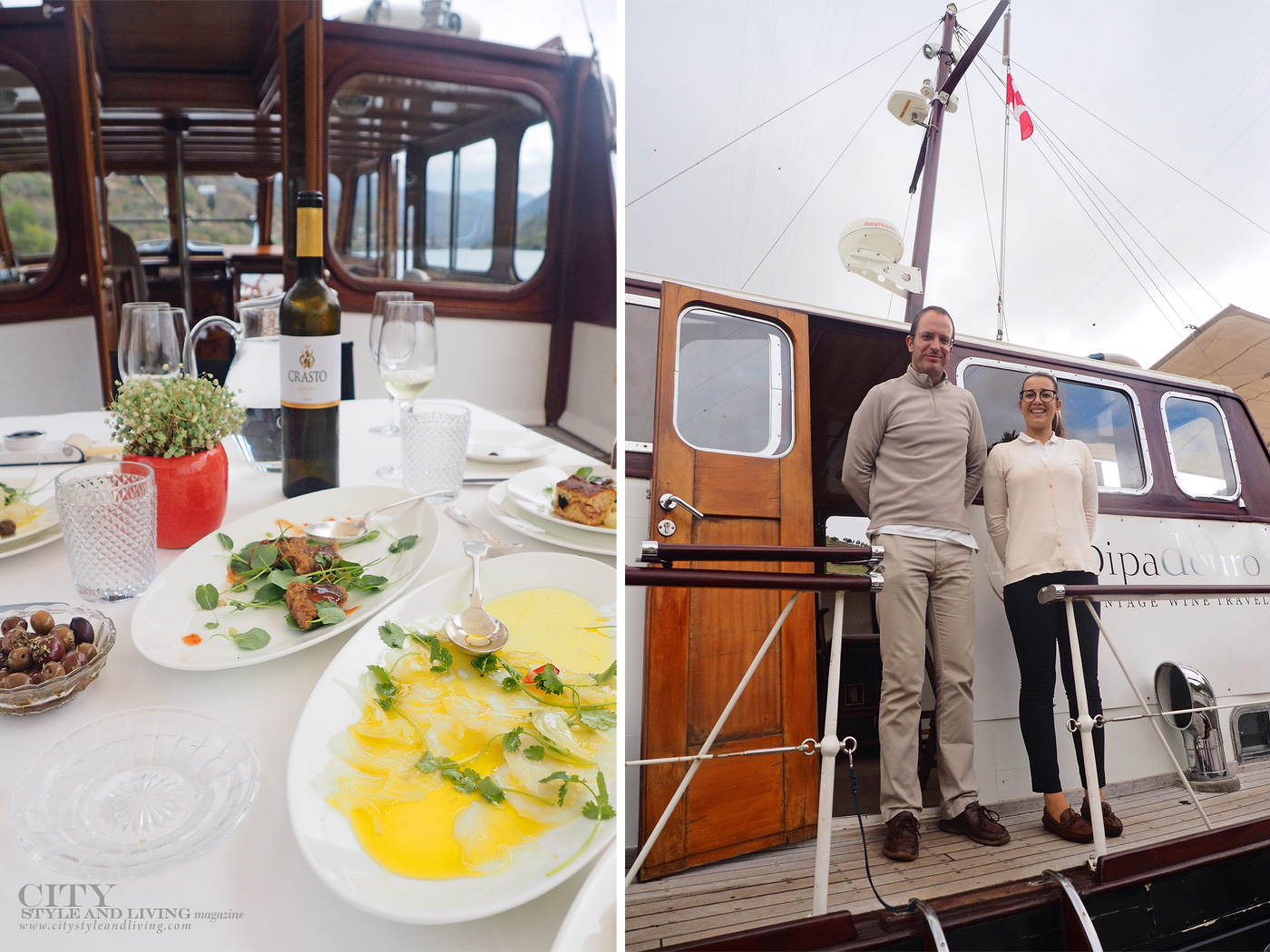 City Style and Living Magazine Travel Portugal Pipa Douro Porto Vintage Wine Travel lunch and captain nuno and vera