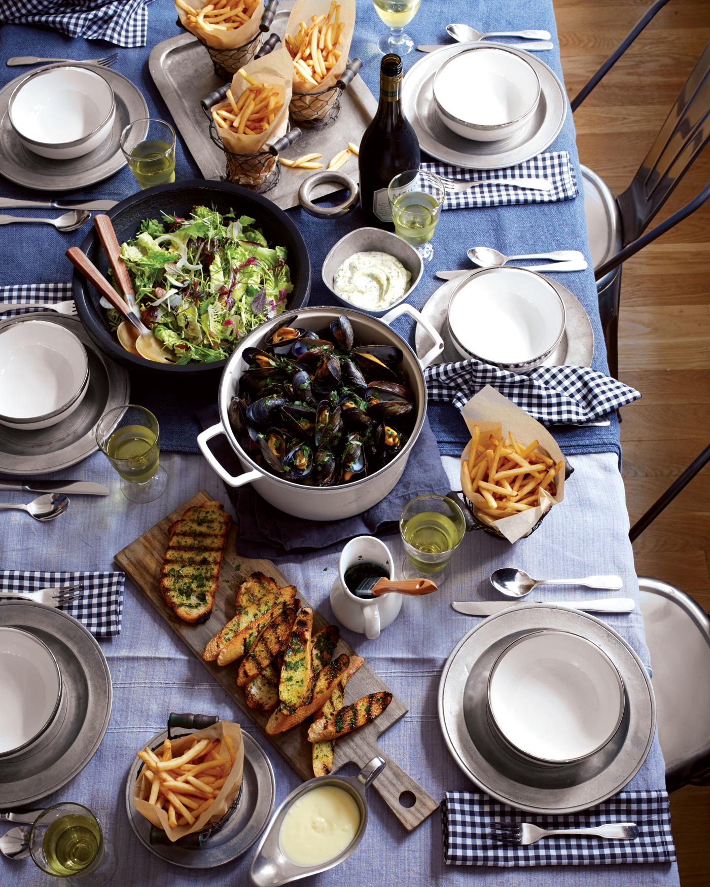 City Style and Living Magazine Moules Frites for a Crowd