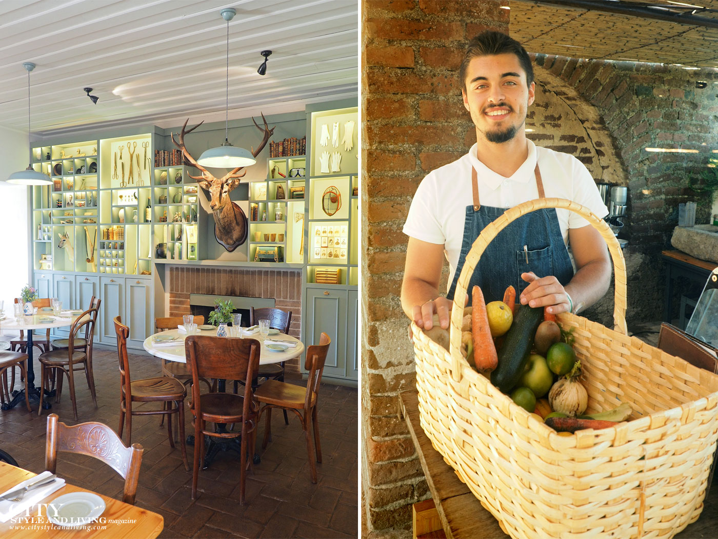 City Style and Living Magazine Travel Portugal Sao Lourenco do Barrocal restaurant and Luis at the garden