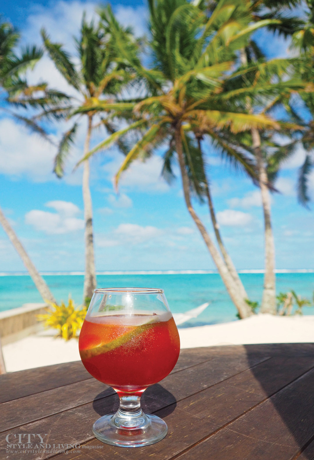 City Style and Living Magazine Fall 2018 Healthy While Travelling Drink at Little Polynesian