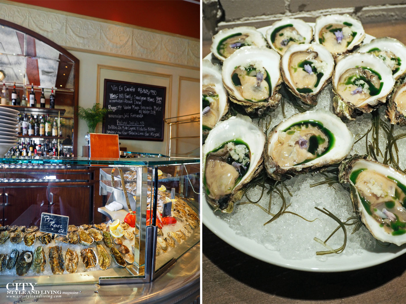 City Style and Living Magazine Oyster Bar