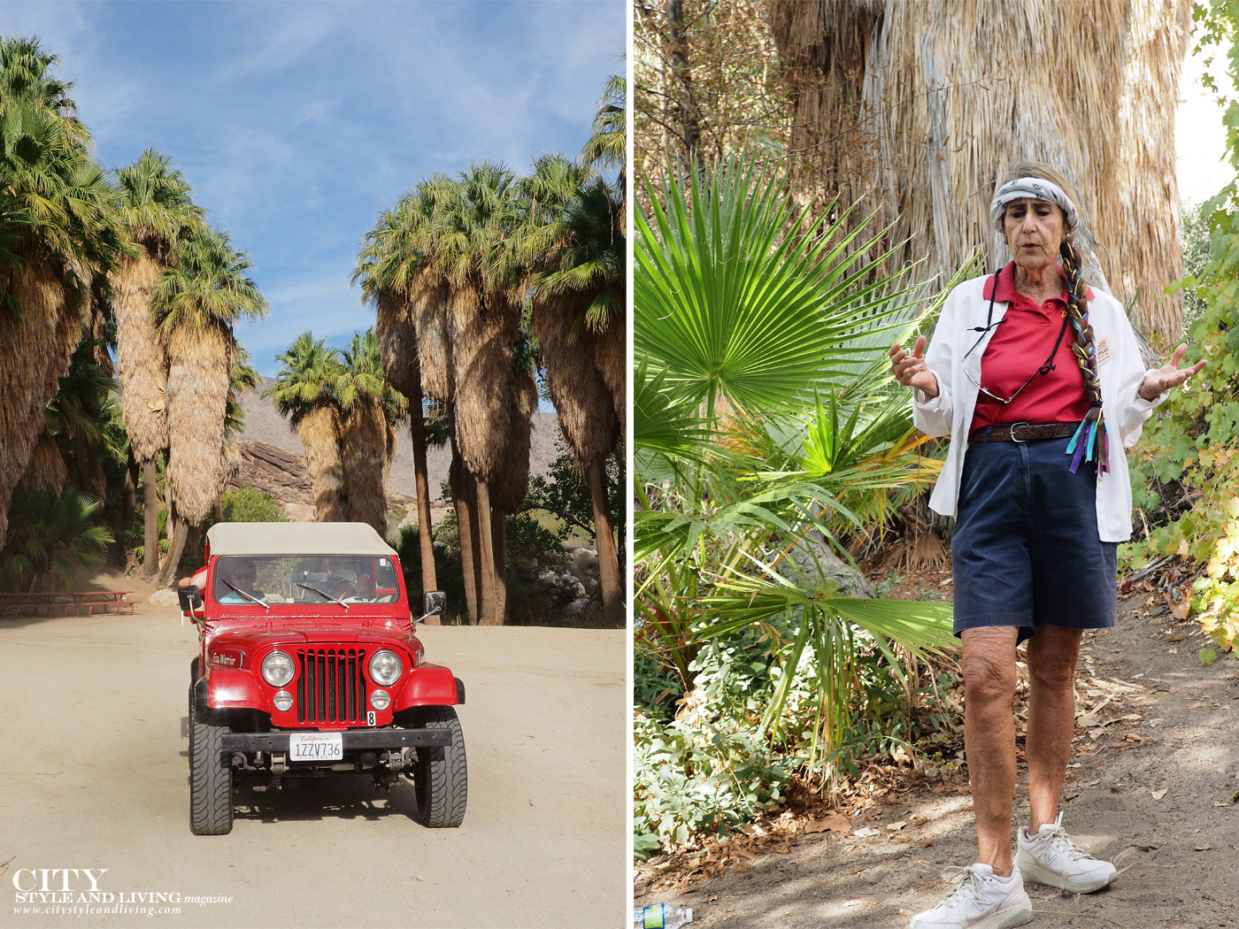 City Style and Living Magazine Winter 2018 Travel Greater Palm Springs California Morgan Red Jeep Tours Desert Adventures