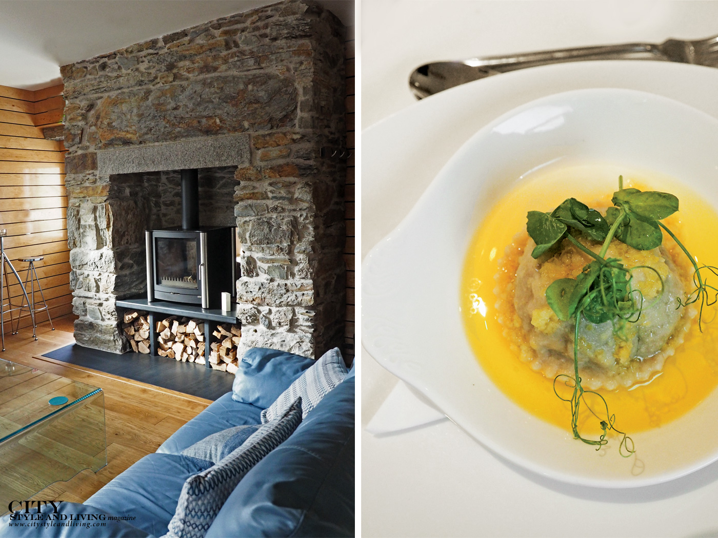 City Style and Living Magazine Winter 2018 Wales Hotels Coes Faen Luxury Spa Lodge nook and pasta