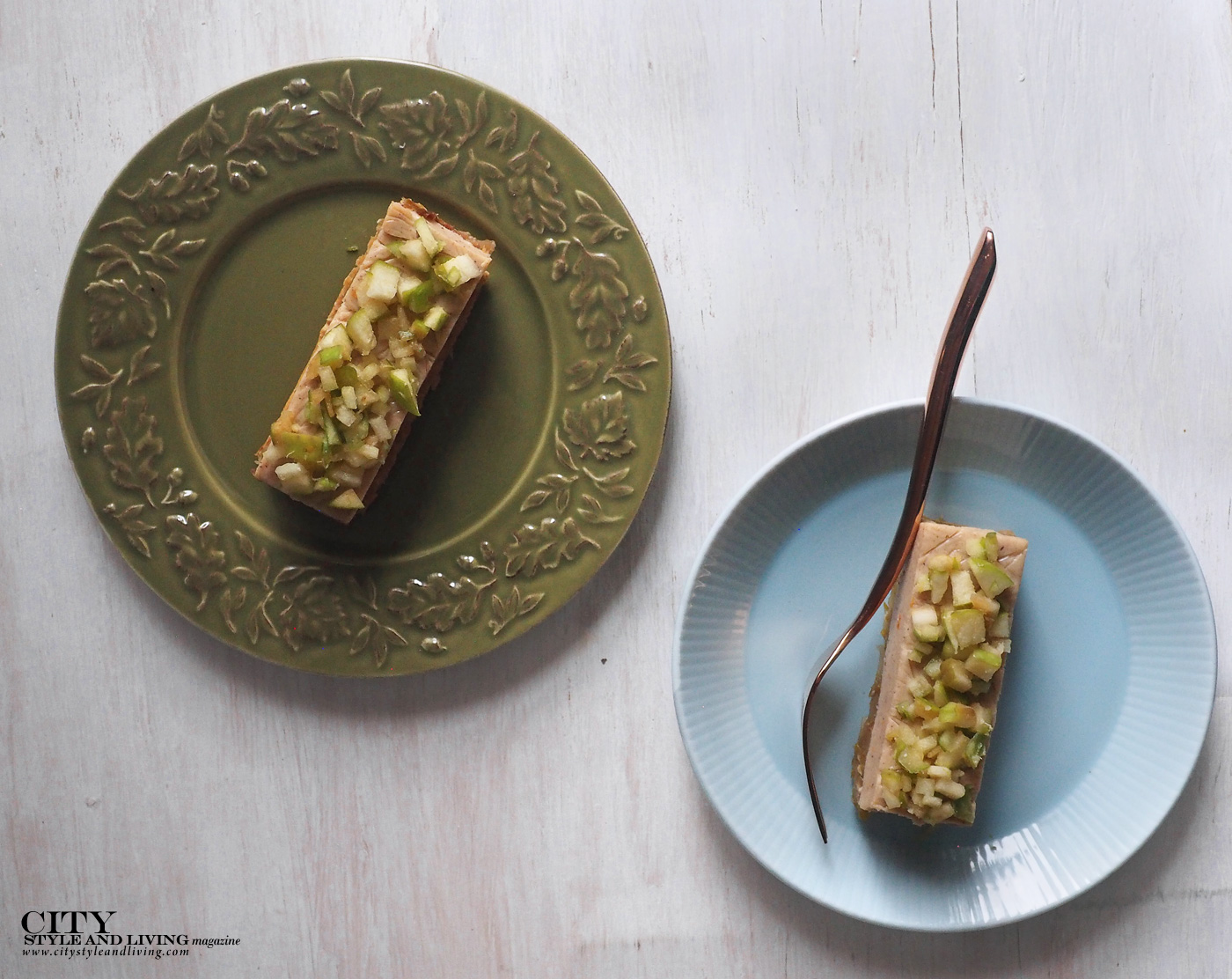 City Style and Living Magazine Spring Baking Apple cremeux two plates
