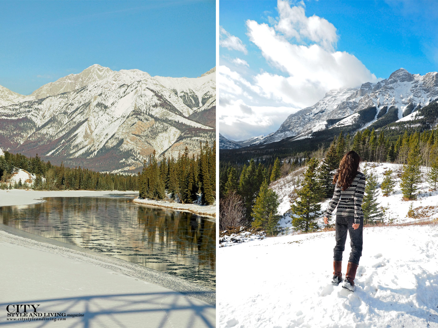 City Style and Living Magazine Spring Road Trip Rocky Mountain Road Trip Alberta Jasper mountains and kananaskis
