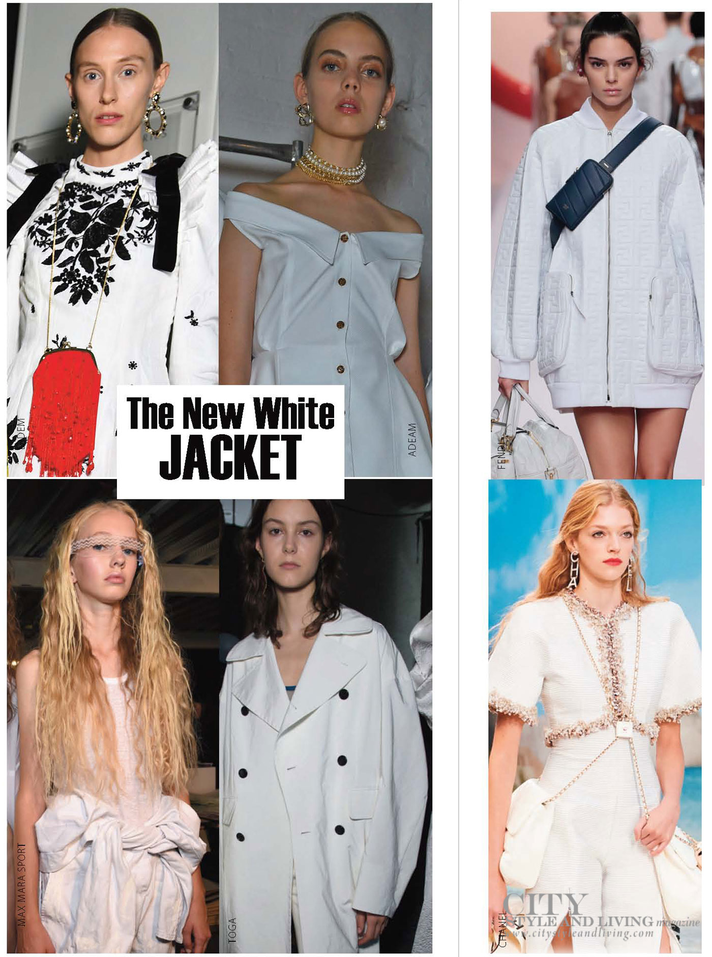 City Style and Living Magazine Spring 2019 Fashion Trends  white jacket
