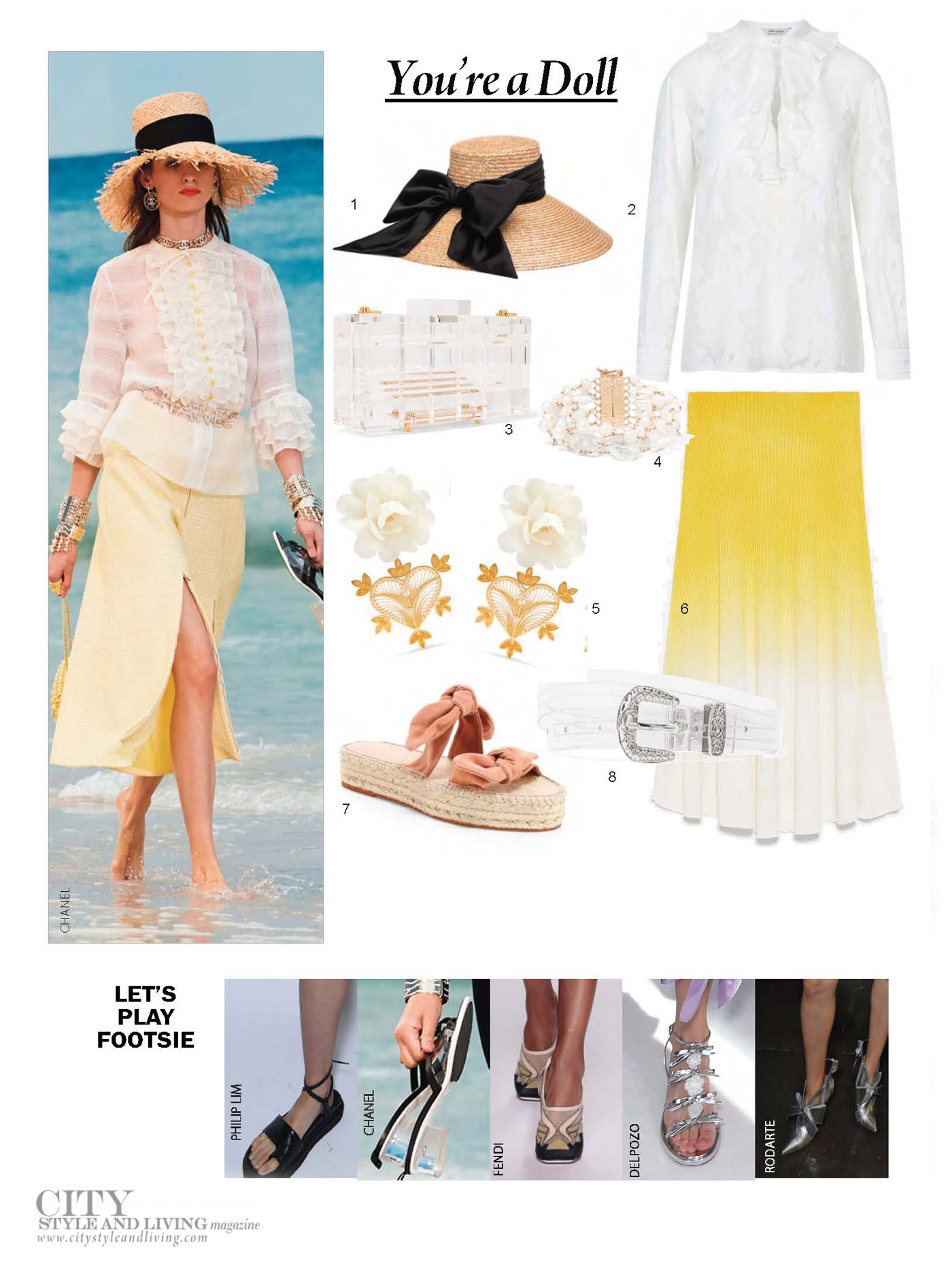 City Style and Living Magazine Spring 2019 Fashion Trends frills and flatforms