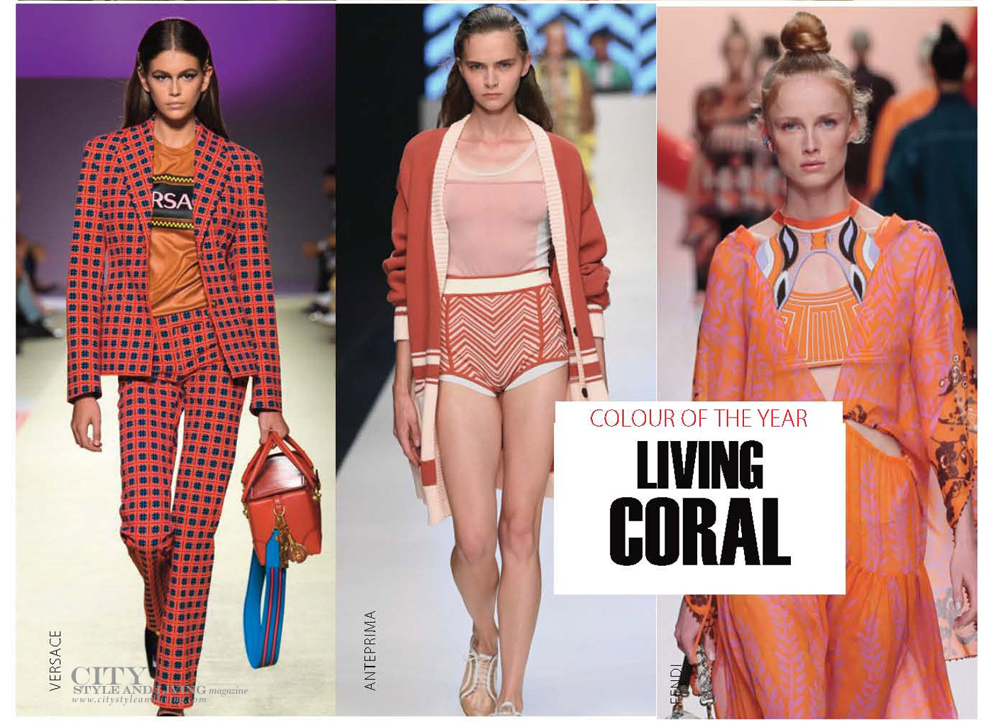 City Style and Living Magazine Spring 2019 Fashion Trends colour Coral