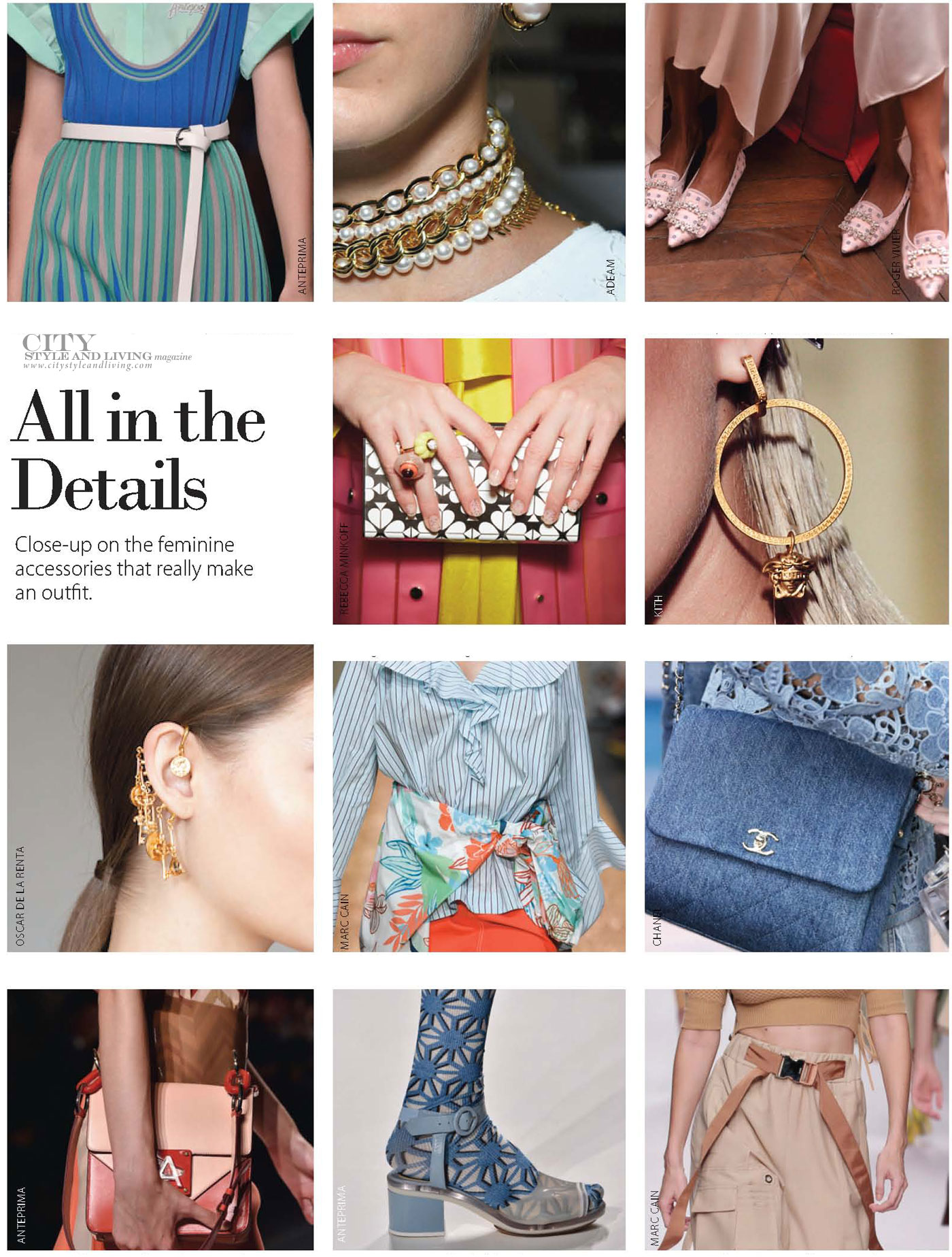 City Style and Living Magazine Spring 2019 Fashion Trends accessoriesDetails