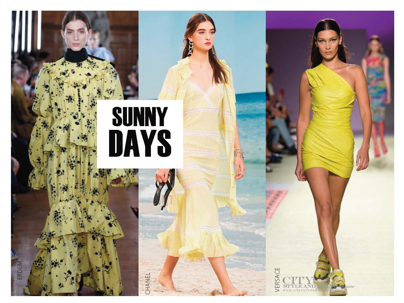 City Style and Living Magazine Spring 2019 Fashion Trends colour Yellow