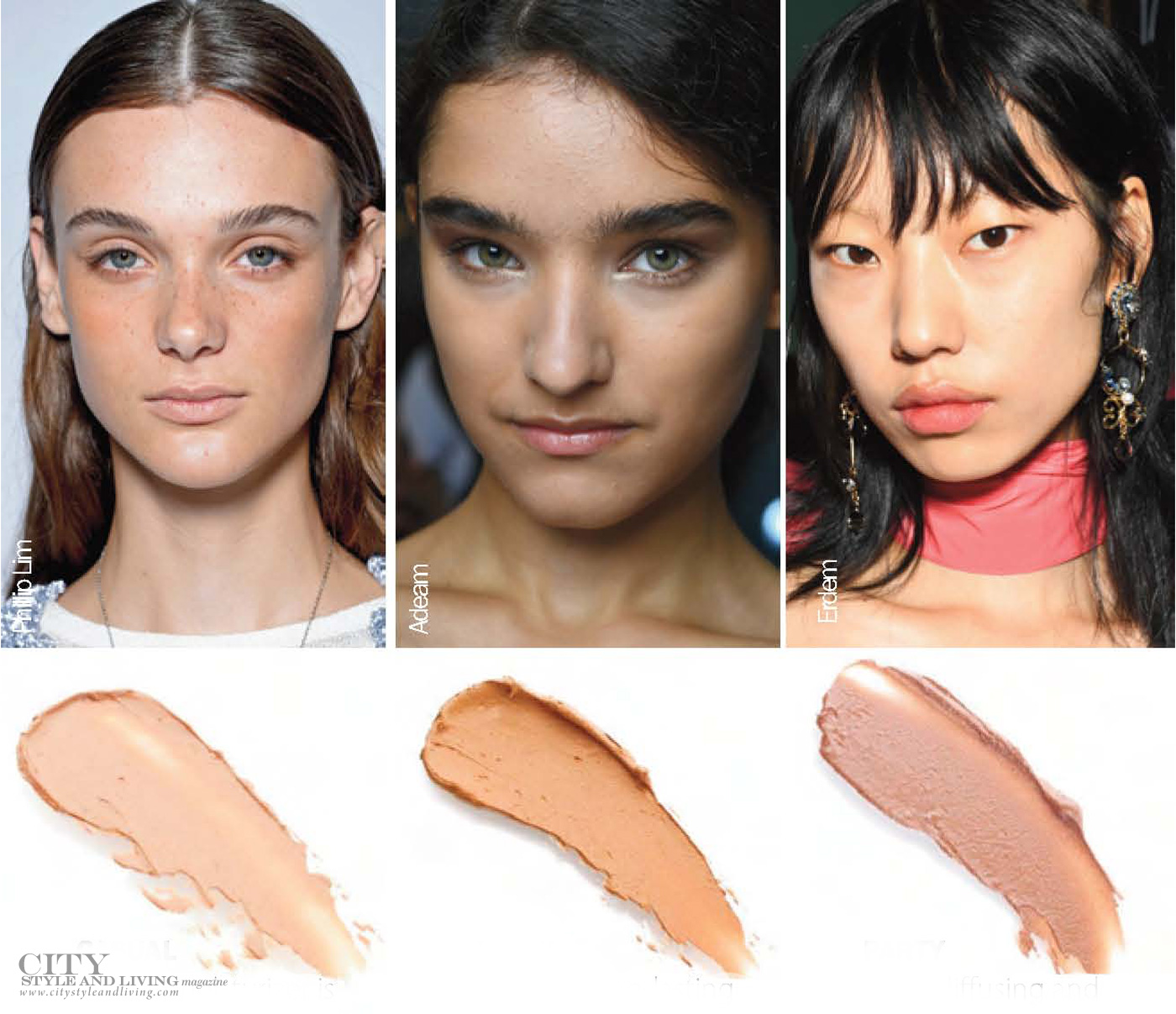 City Style and Living Magazine Spring 2019 Beauty Lessons from the runway makeup for every skin type