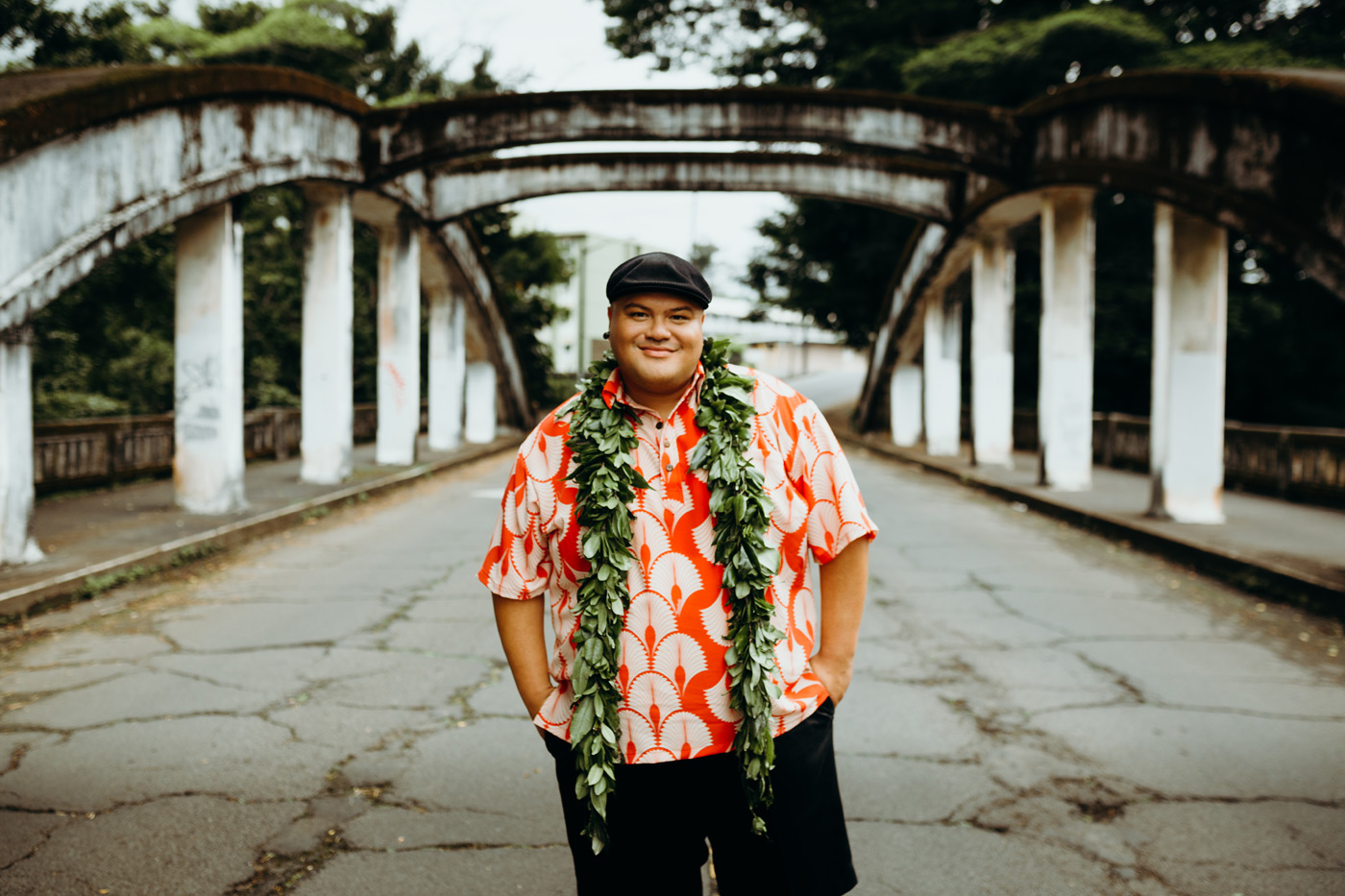 City Style and Living Magazine Spring 2019 Multi-Grammy Award Winner Kalani Pe'a portrait in hawaii