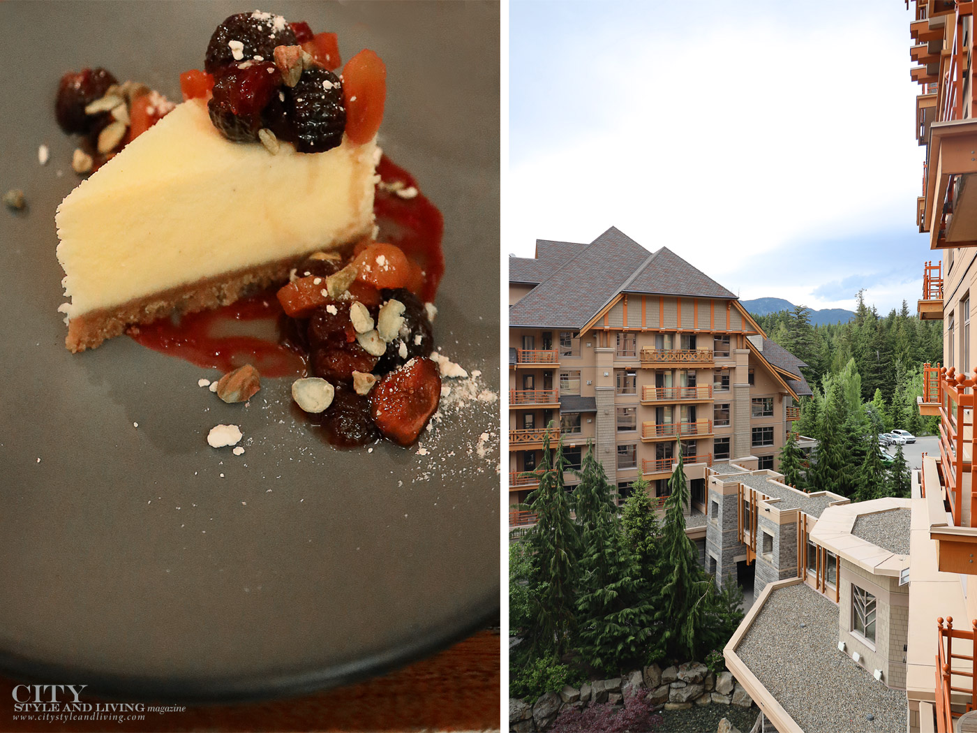 City Style and Living Magazine Summer 2019 Porsche Experience Whistler Cayenne S  Four Seasons Whistler dinner and exterior
