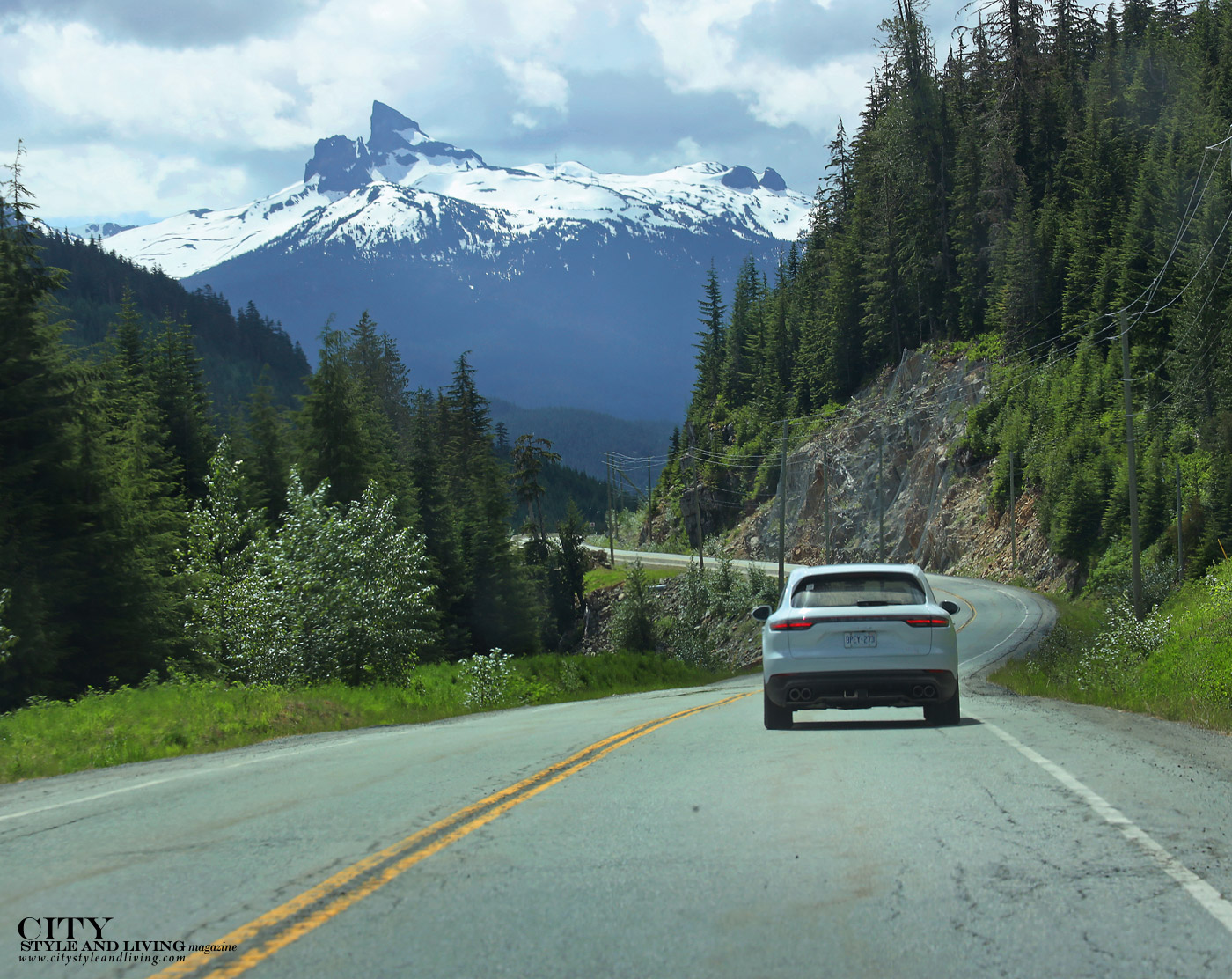 City Style and Living Magazine Summer 2019 Porsche Experience Whistler Cayenne S Sea to Sky highway