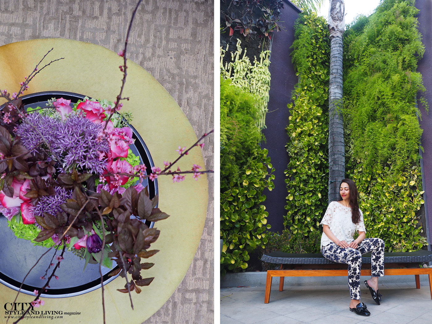 City Style and Living Magazine Summer 2019 Hotels Avenue of the Arts Costa Mesa flowers and living wall